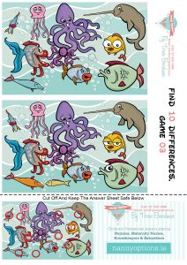 Games for Kids - Find 10 Differences - Game 3