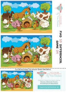 Games for Kids - Find 10 Differences - Game 4