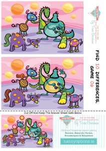 Games for Kids - Find 10 Differences - Game 6