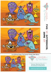 Games for Kids - Find 10 Differences - Game 7