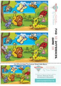 Games for Kids – Find 10 Differences – Game 13