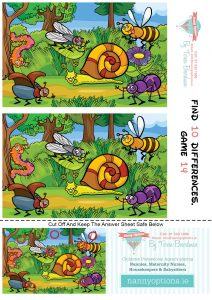 Games for Kids – Find 10 Differences – Game 14