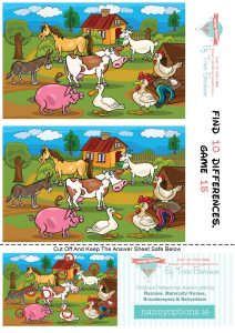 Games for Kids – Find 10 Differences – Game 15