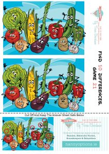 Games for Kids – Find 10 Differences – Game 21