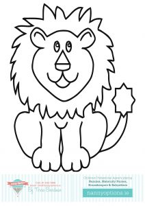 Colouring In Pictures to Print by Nanny Options, Dublin