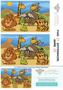 Games for Kids – Find 10 Differences – Game 25