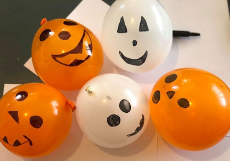 Halloween Crafts with Balloons