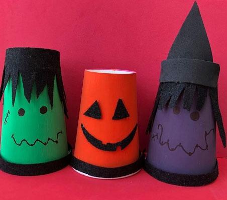 Halloween Paper Cups Crafts