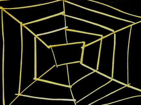 Halloween Spider Web Toss Game