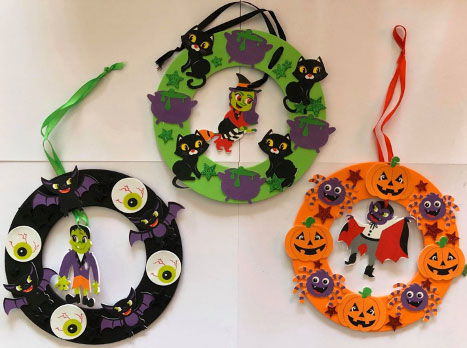 Halloween Wreath Decorations Kits from Baker Ross