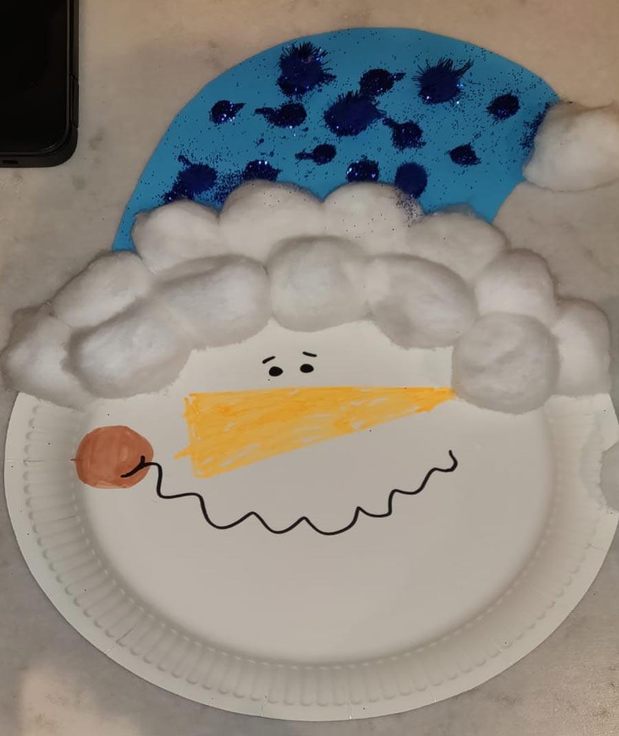 Paper Plate Christmas Characters, Santa, Rudolph, Snowman