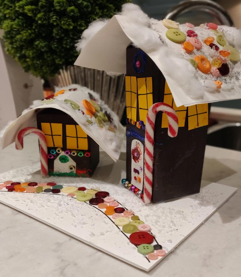Recycled Village of Gingerbread Houses