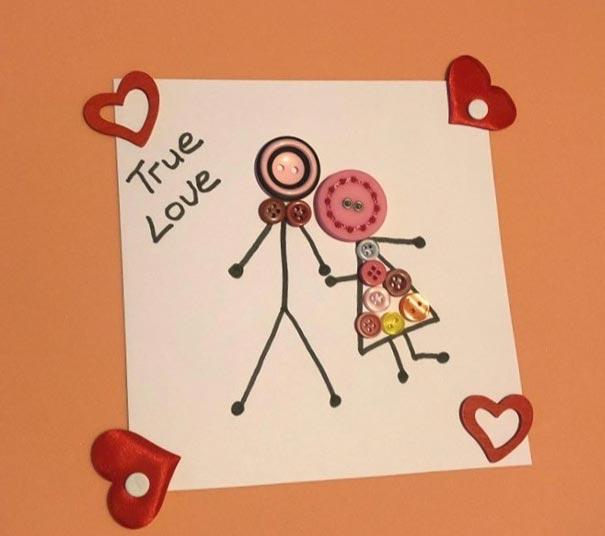 Button Portrait for Valentine's Day