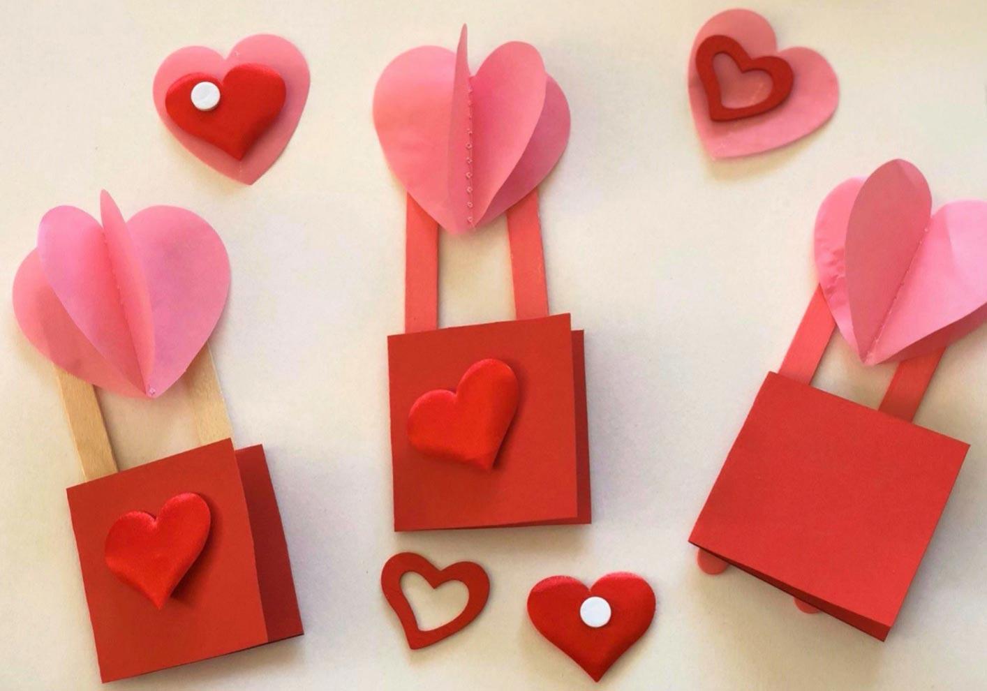 Valentine Heart Air Balloon Craft