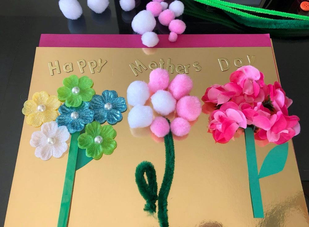 A Flower Card for Mother's Day