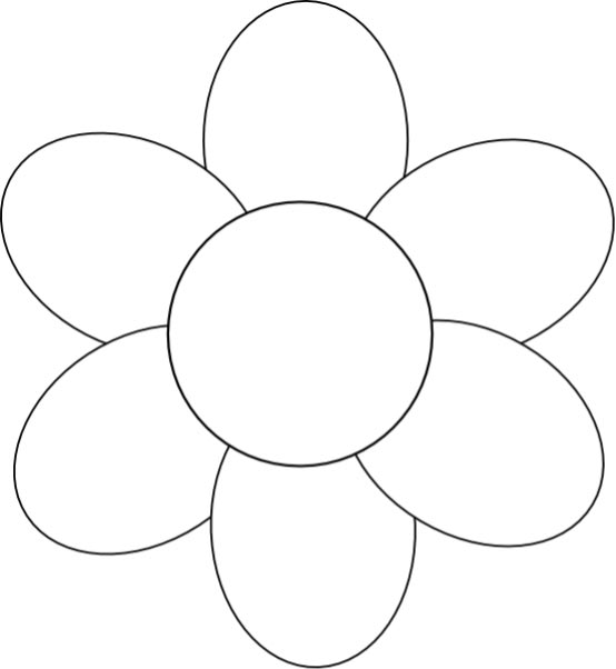 Mother's Day Flower Template