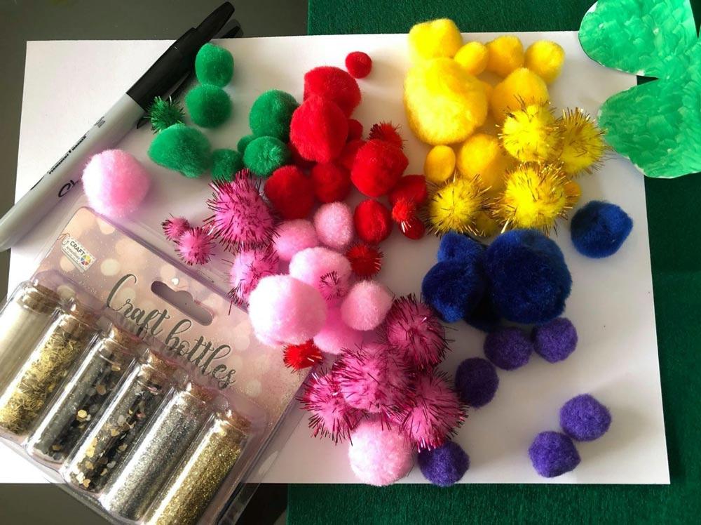 PomPom Rainbow Craft