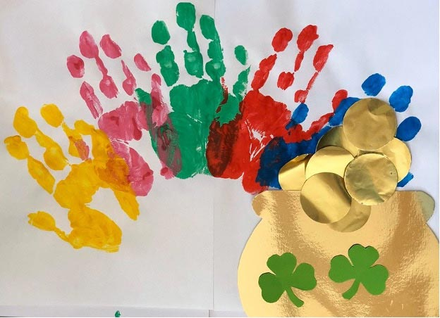 St Patrick's Day Rainbow Craft