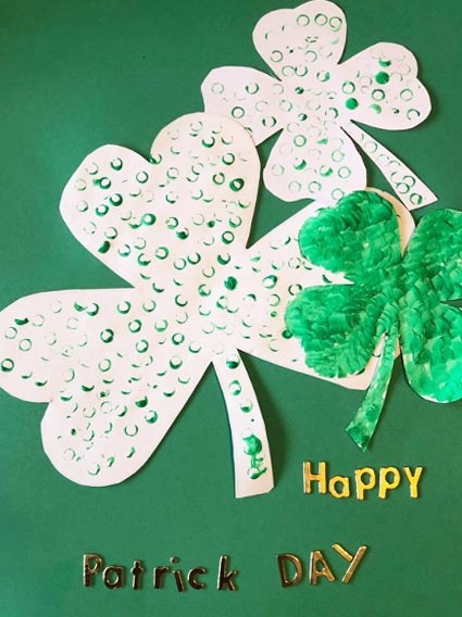 St Patrick's Day Straw Art Activity