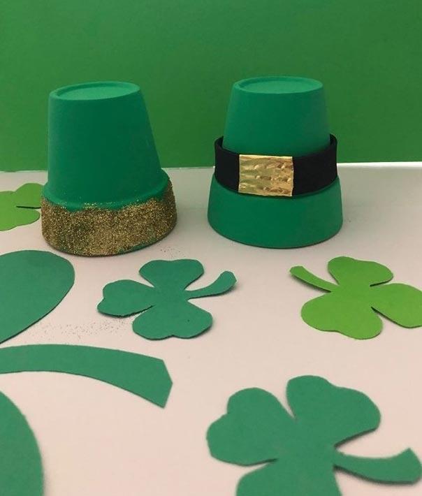 Terracotta Leprechaun Hats for St. Patrick's Day